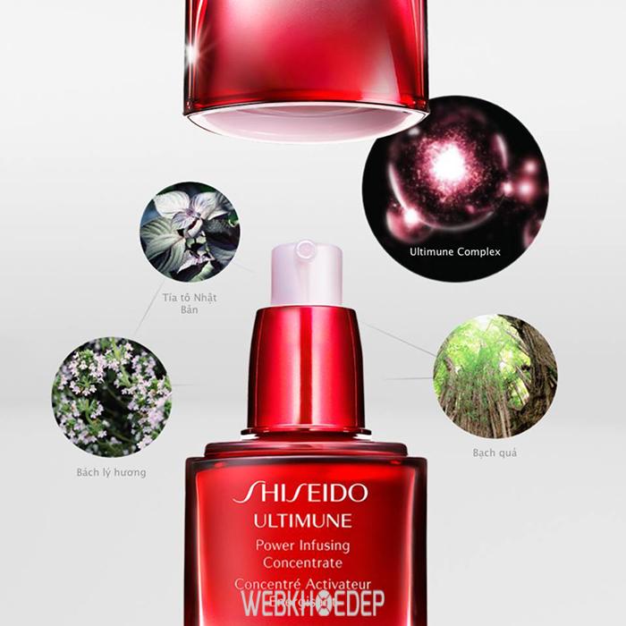 Tăng sức đề kháng cho da với tinh chất truyền năng lượng Shiseido Ultimune Power Infusing Concentrate - Hình 2