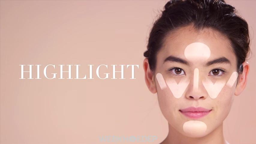 Tạo khối và highlight cho gương mặt tròn thêm thon gọn, cân đối - Hình 1