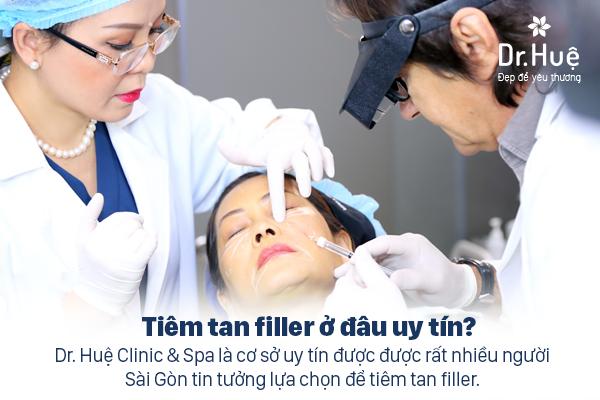 Dr. Huệ Clinic & Spa địa chỉ tiêm tan Filler uy tín an toàn tại TPHCM