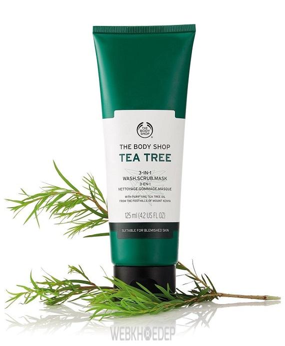 Mặt nạ rửa 3 trong 1 cho câu hỏi Tea Tree Oil The Body Shop có tốt không