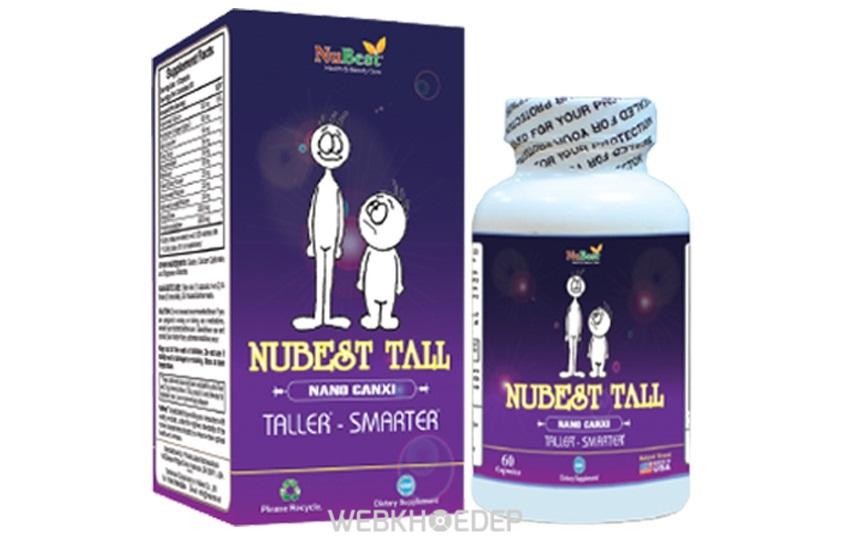 Thuốc tăng chiều cao Nubest Tall giúp trẻ đạt được chiều cao mơ ước