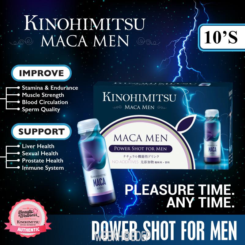 Tăng cường sinh lực và ham muốn ở nam giới với Kinohimitsu Maca Men