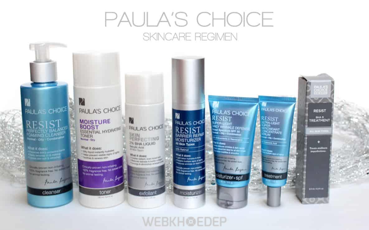 Bộ các sản phẩm chăm sóc da Paula