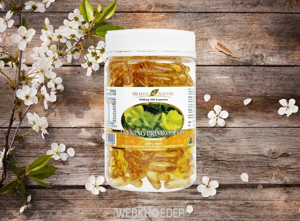 Một hộp tinh dầu hoa anh thảo xuất xứ từ Úc này tăng thời gian sử dụng của bạn lên rất lâu khi có thể có đến 300 viên