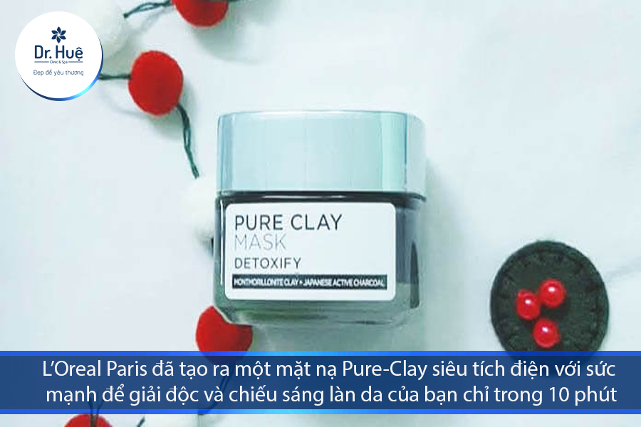 Pure-Clay Face Mask with Charcoal của L'oreal