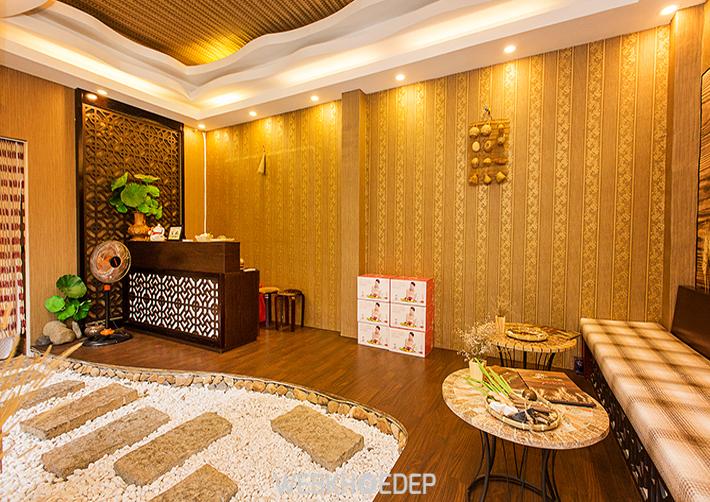 Spa được thiết kế theo phong cách ấm cúng,gần gũi với thiên nhiên