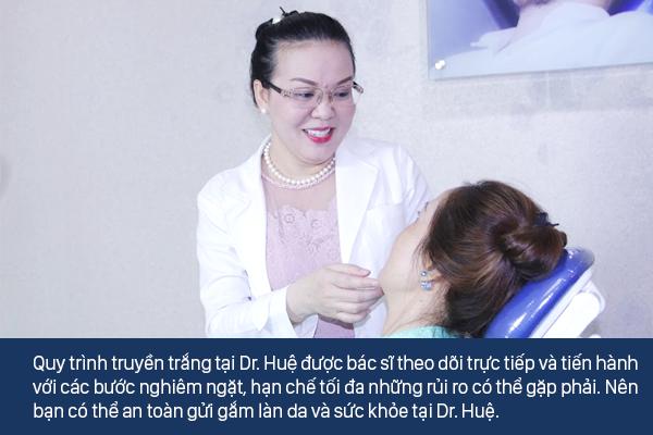 Dr.Huệ Clinic & Spa địa chỉ truyền trắng da an toàn taỊ TPCHM