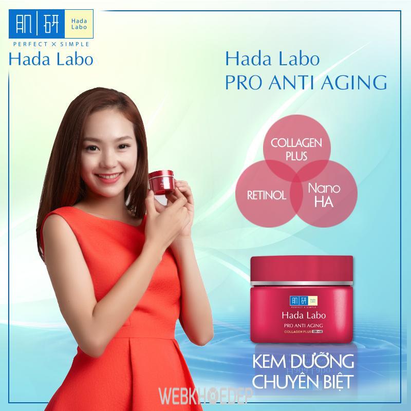 Kem dưỡng Hada Labo Pro Anti Aging tiện dụng với hộp đựng sang trọng