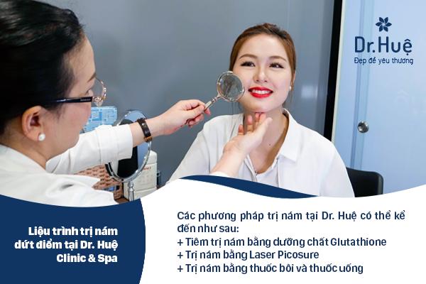 Tiêm trị nám an toàn tại Dr.Huệ Clinic & Spa