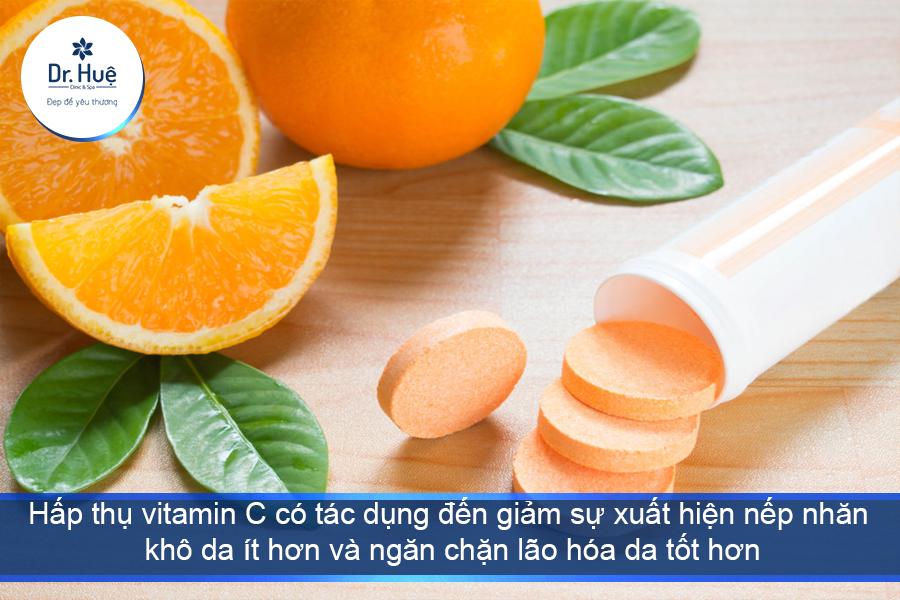 Tác dụng vitamin C với làn da
