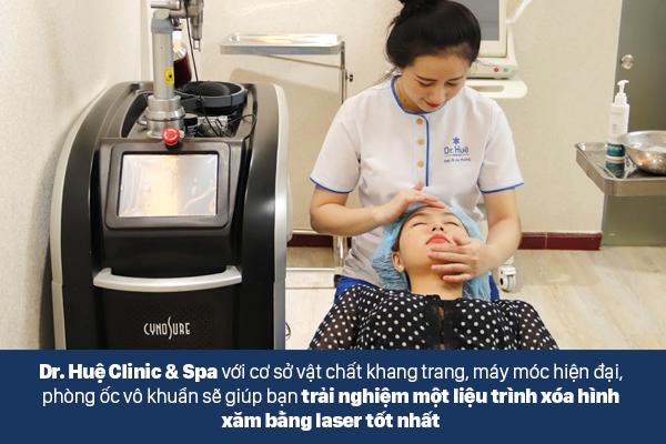 Dr.Huệ Clinic & Spa địa chỉ xóa xăm bằng công nghệ Laser an toàn hiệu quả